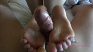 She's got hot feet and knows how to use them